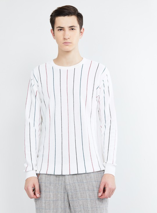 MAX Striped Crew Neck Sweater