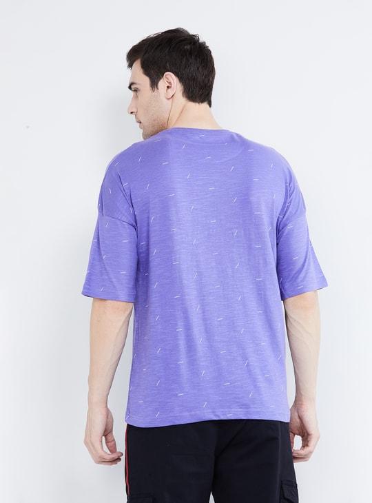 MAX Printed Drop-Shoulders Crew Neck T-shirt