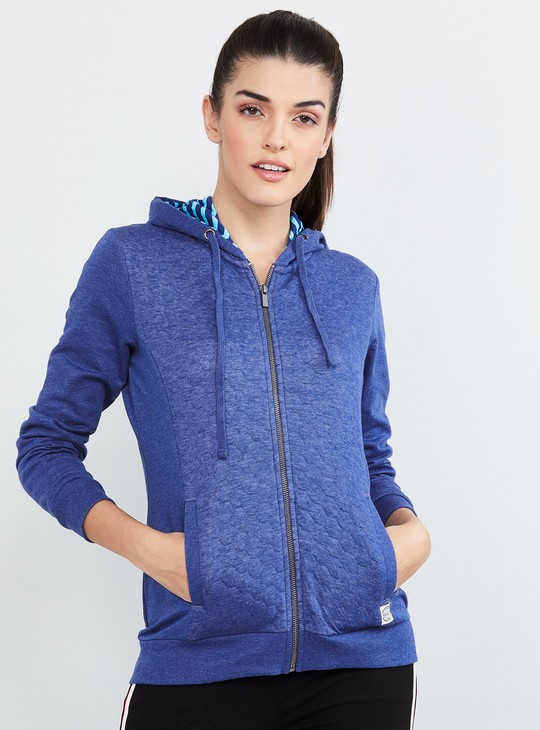 MAX Honeycomb Pattern Weave Hooded Jacket