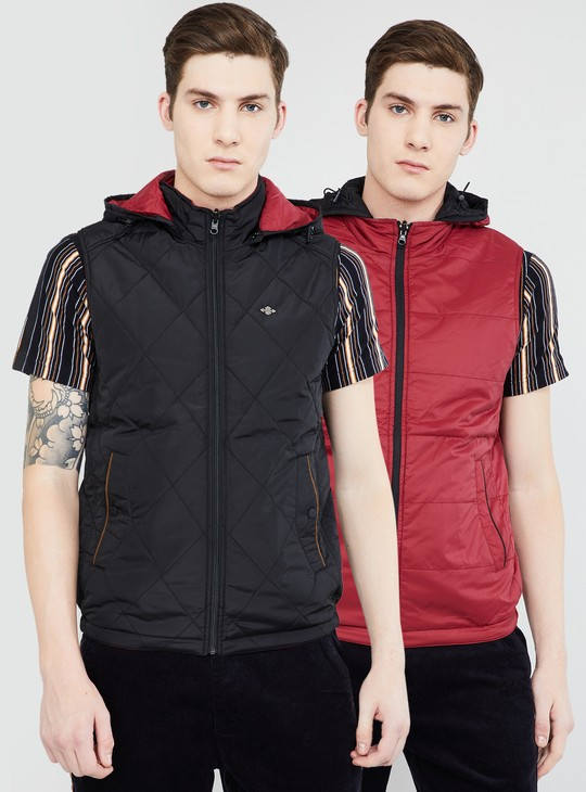 MAX Solid Reversible Puffer Jacket
