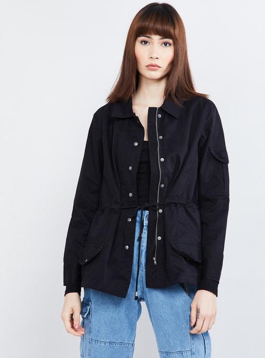 MAX Solid Full Sleeves Jacket