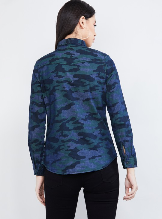 MAX Camouflage Print Full Sleeves Shirt