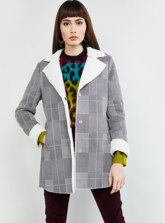 MAX Checked Collared Jacket