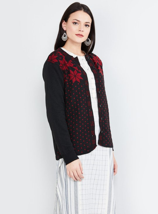 MAX Floral Patterned Cardigan