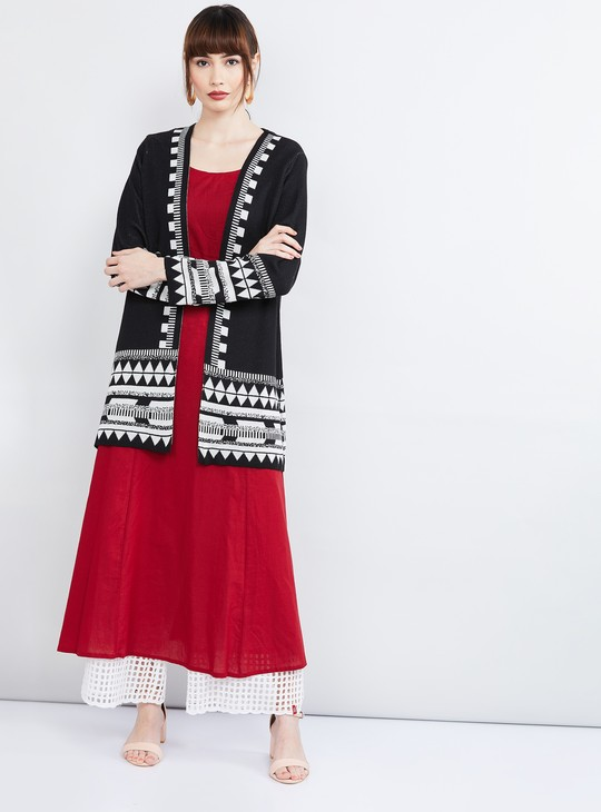 MAX Jacquard Knitted Front-Open Koti