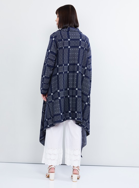 MAX Jacquard Knitted Waterfall Jacket