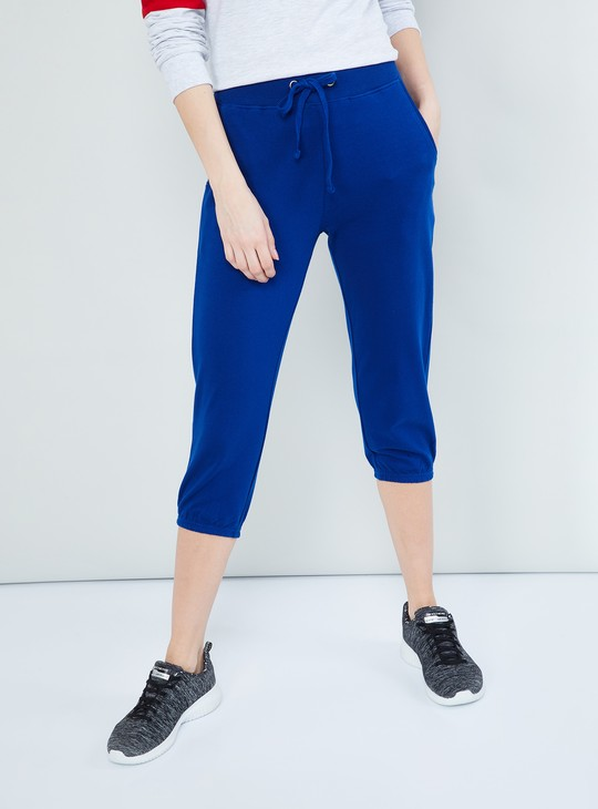 MAX Solid Capris with Drawstring