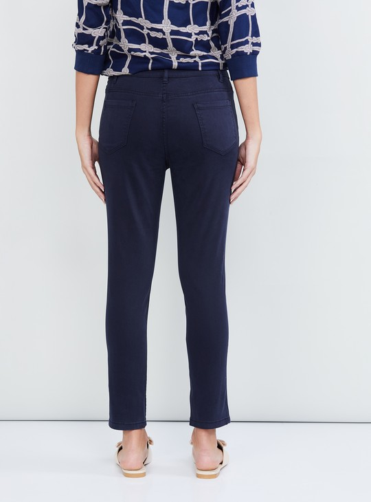 MAX Solid Ankle Length Trousers
