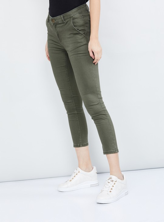 MAX Solid Skinny Fit Trousers