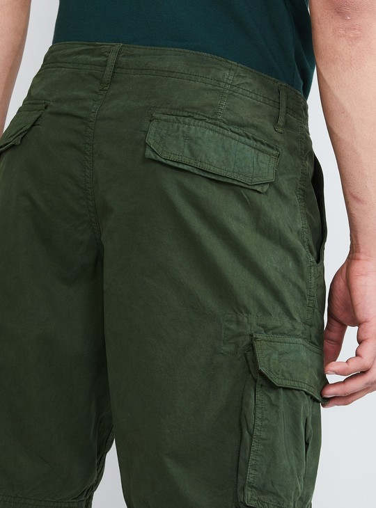 MAX Solid Cargo Pocket Shorts