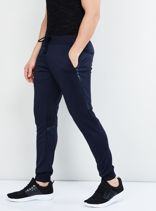 MAX Solid Knitted Drawstring Waist Joggers