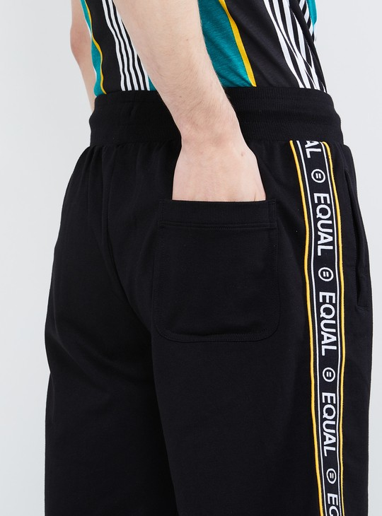 MAX Printed Sports Shorts with Typographic Tape Detail