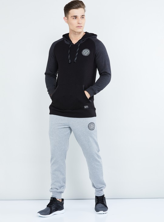 MAX Solid Raglan Sleeves Hooded Sweatshirt