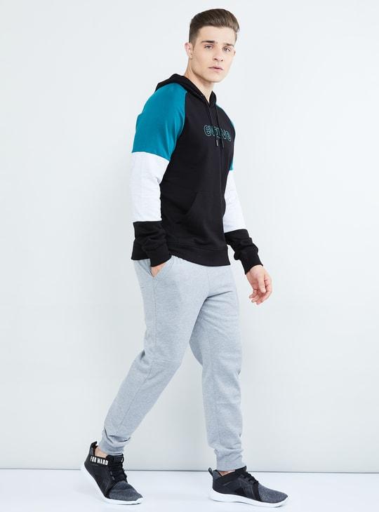 MAX Raglan Sleeves Colourblock Hooded Sweatshirt