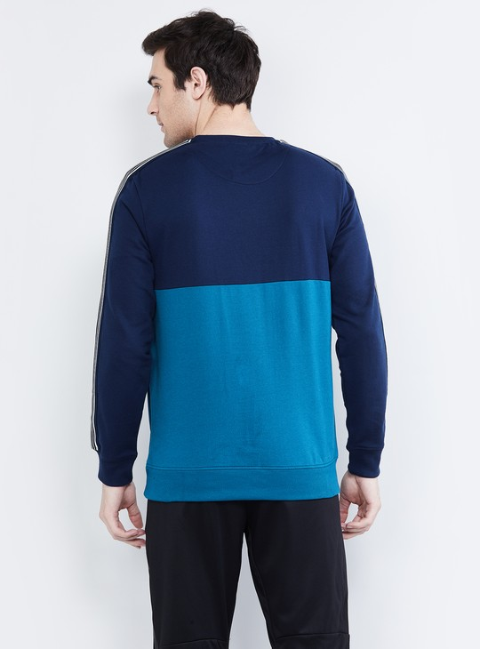 MAX  Colourblocked Full Sleeves Sweatshirt