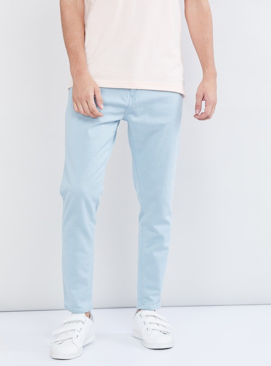 MAX Solid Carrot Fit Jeans