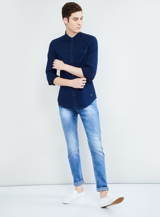 MAX Textured Slim Fit Casual Shirt
