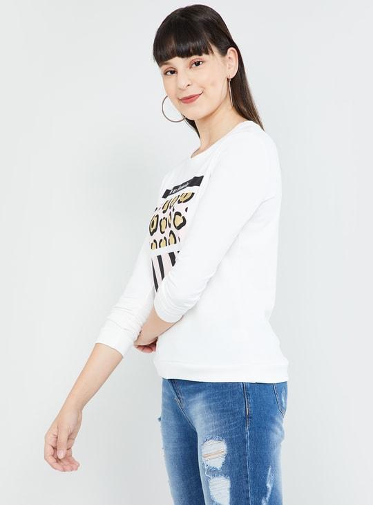 MAX Animal Print Full Sleeves Sweatshirt