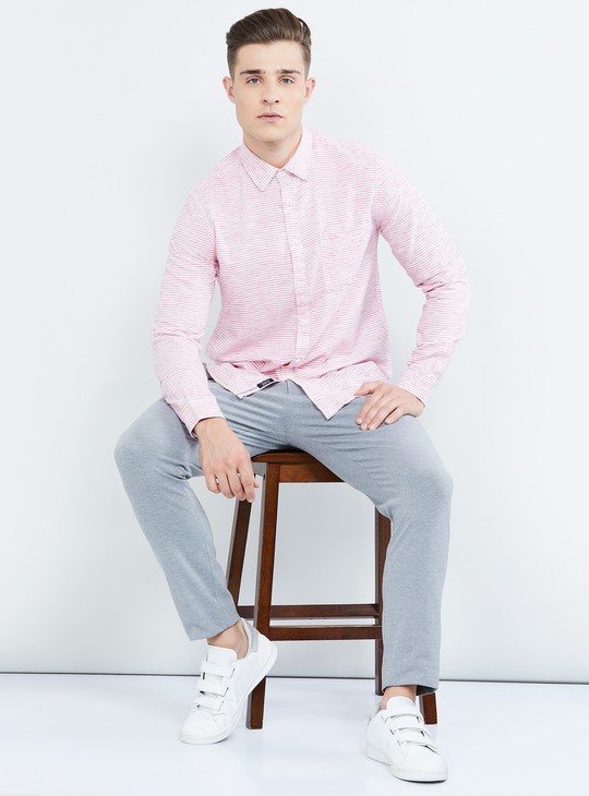 MAX Striped Slim Fit Casual Slim Fit Shirt