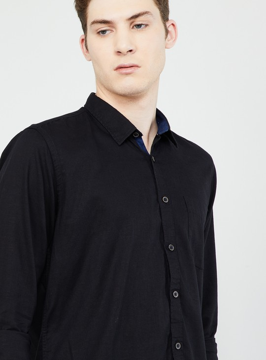 MAX Solid Smart Fit Casual Shirt