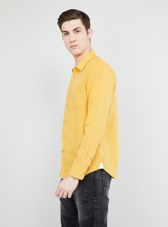 MAX Solid Full Sleeves Casual Shirt