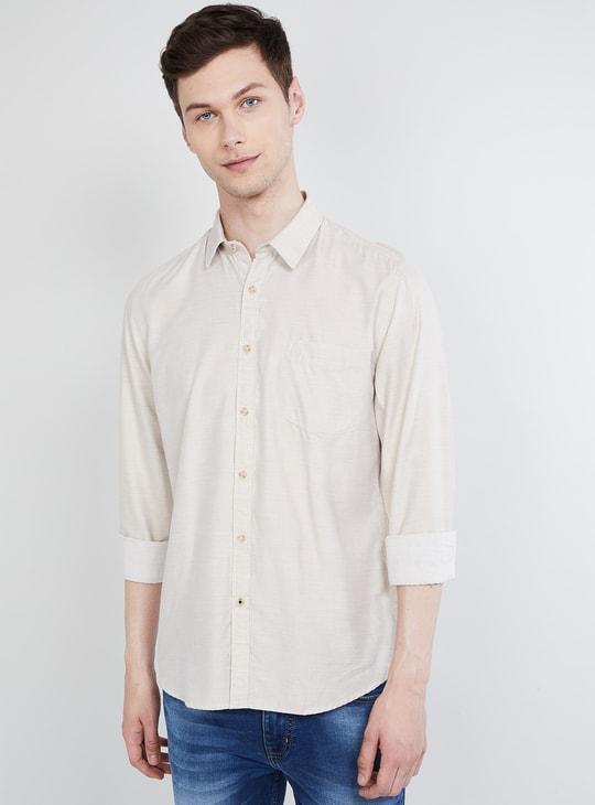 MAX Solid Full Sleeves Regular Fit Shirt