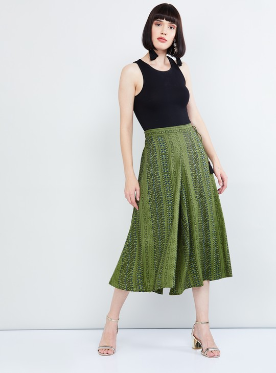 MAX Printed Culottes with Tie-up Detail