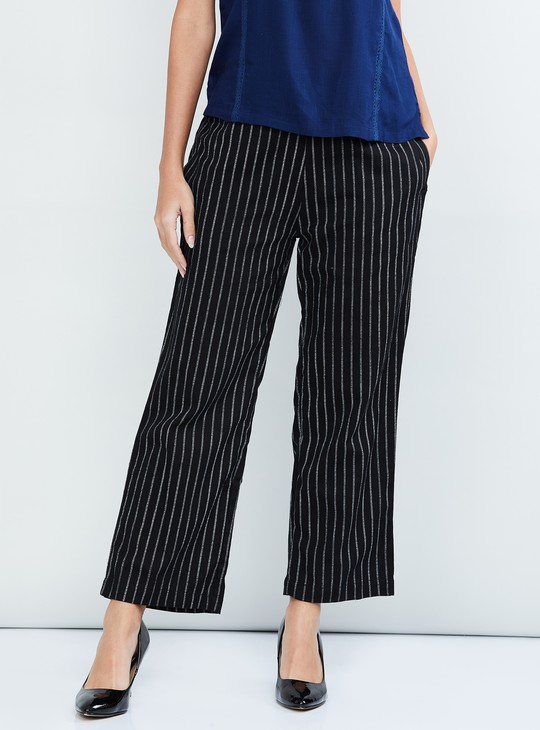 MAX Striped Flared Trousers