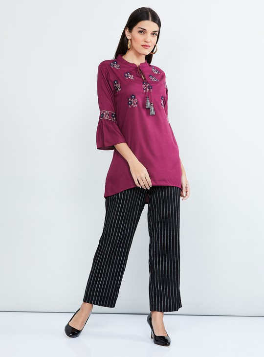 MAX Embroidered Bell Sleeves Tunic