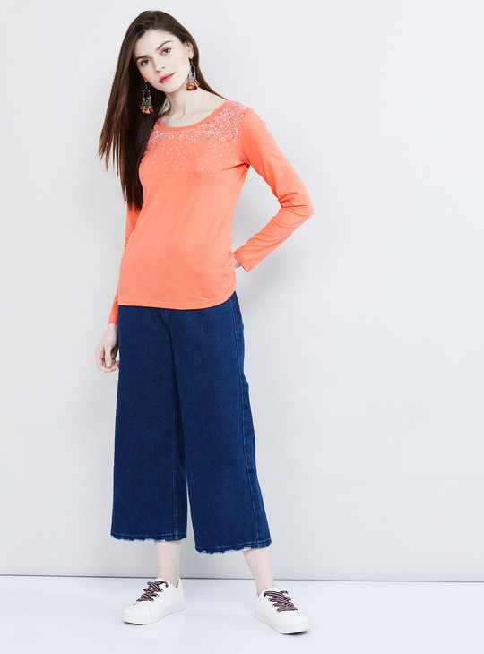 MAX Embroidered Full Sleeves T-shirt