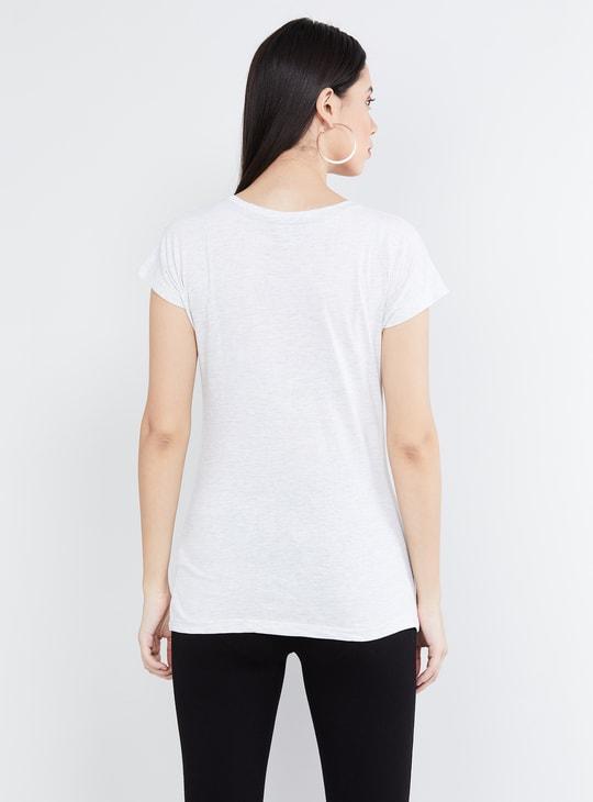MAX Printed Cap Sleeves Top