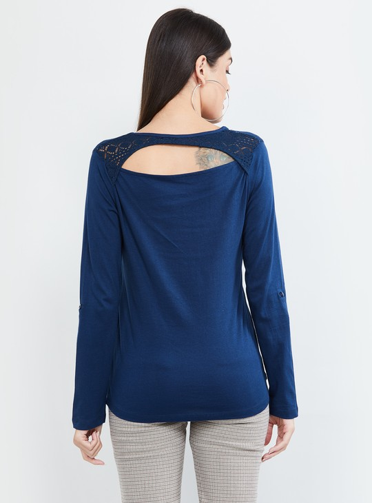 MAX Solid Full Sleeves Top