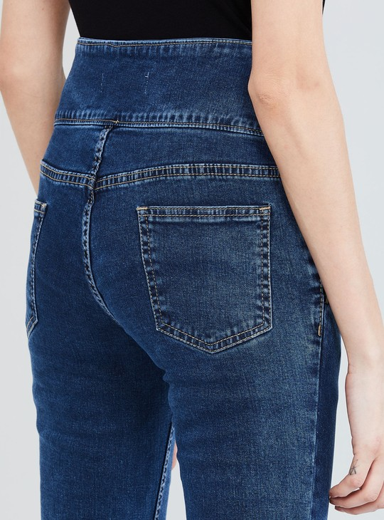 MAX Solid Skinny Fit High-Rise Jeans
