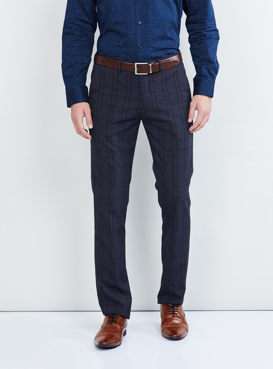 MAX Checked Slim Fit Trousers