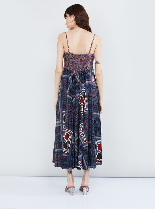 MAX Printed Camisole A-line Dress