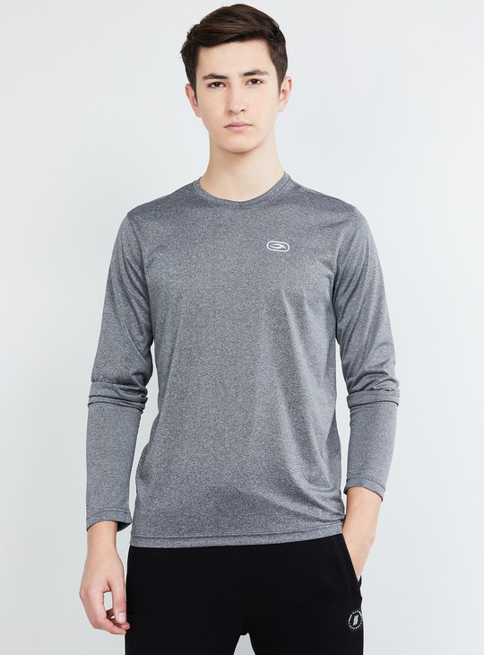 MAX Textured Full Sleeves Crew Neck T-shirt