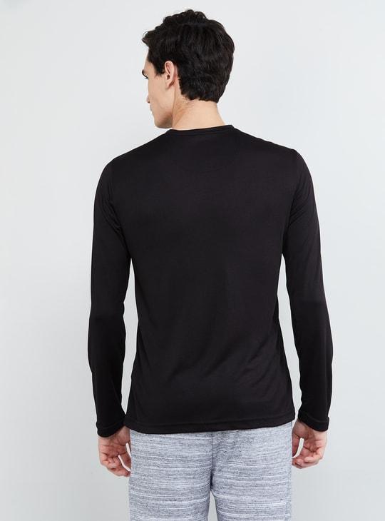 MAX Textured V-neck Full Sleeves T-shirt