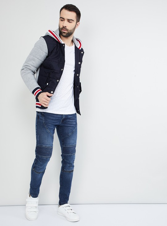 MAX Quilted Hooded Button-Down Jacket