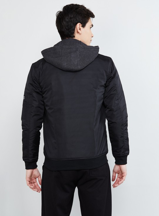 MAX Solid Hooded Double-Layered Jacket