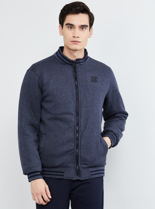 MAX Solid Zip-Up Reversible Puffer Jacket