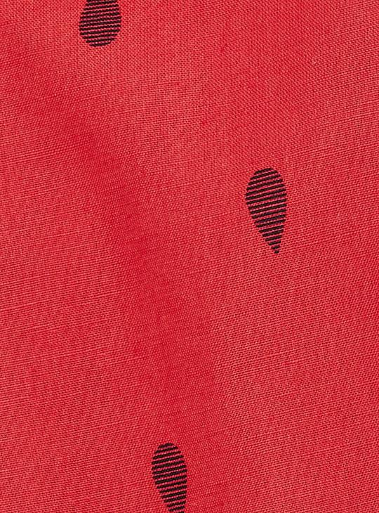 MAX Printed Band Collar Sleeveless Kurta