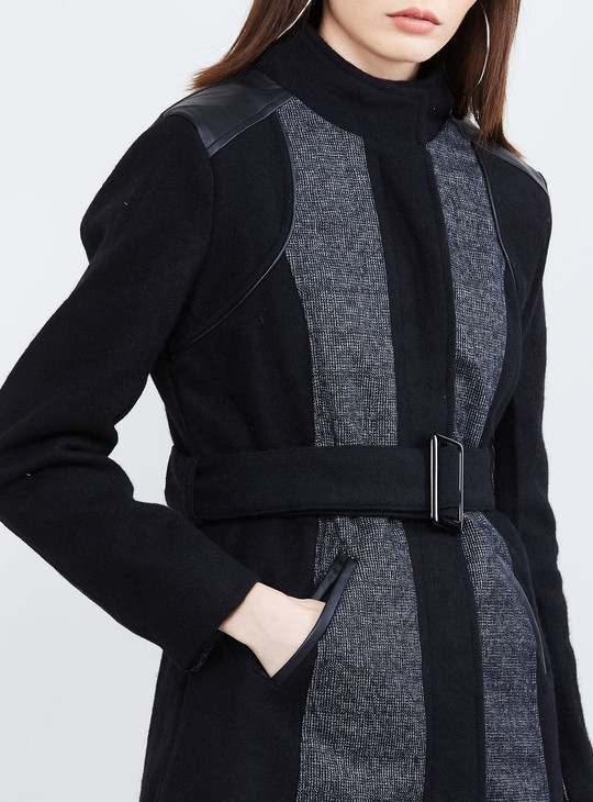 MAX Panelled Full Sleeves Trenchcoat
