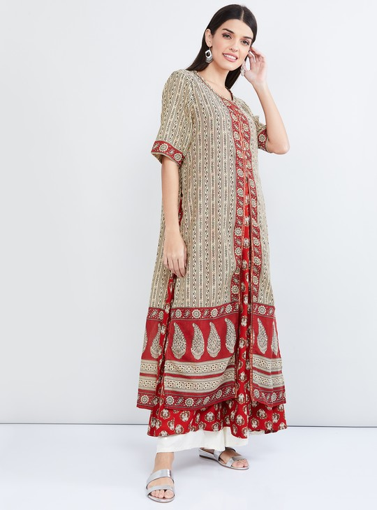 MAX Printed Two-Piece Kurta