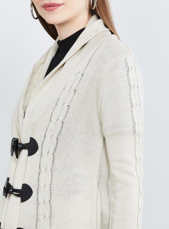 MAX Textured Full Sleeves Cardigan