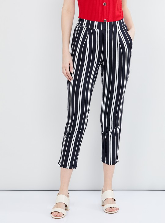 MAX Striped Pants with Pocket Detail