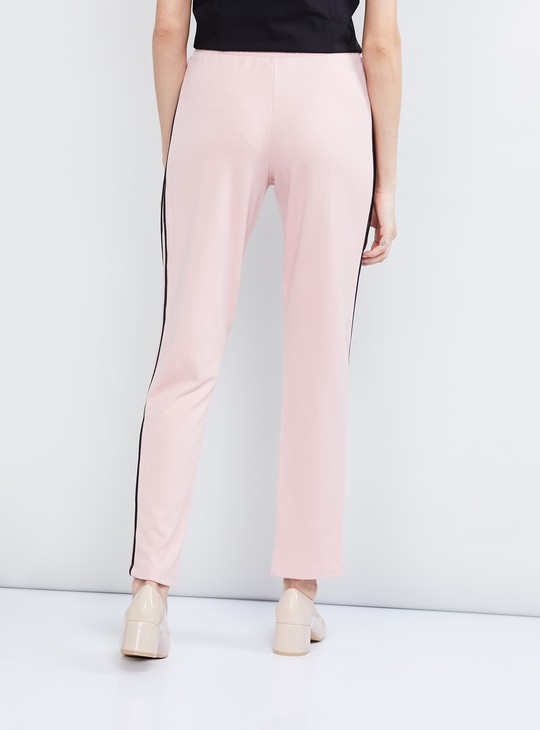 MAX Solid Treggings with Zip Detail
