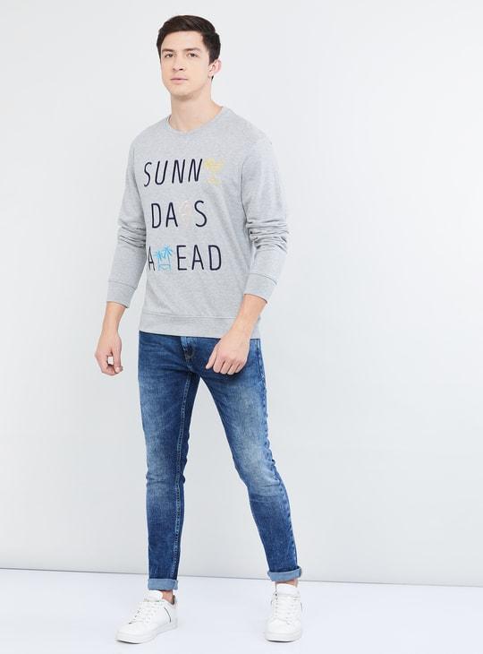 MAX Printed Full Sleeves Sweatshirt