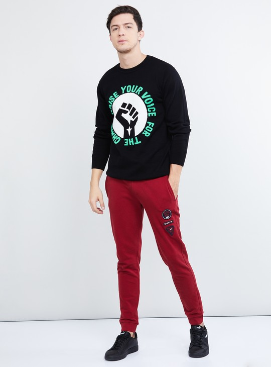 MAX Textured Full Sleeves Knit T-shirt