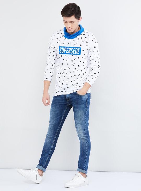 MAX Printed Cowl Neck T-shirt