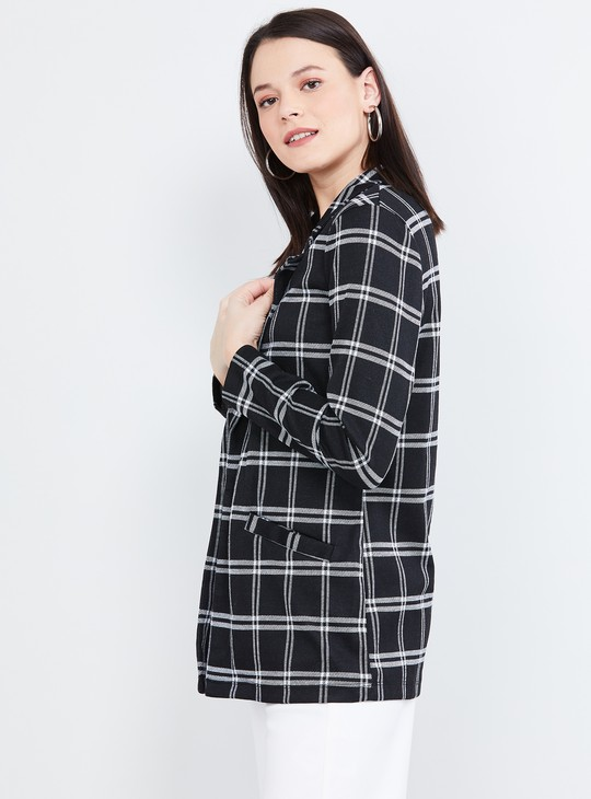 MAX Checked Notched Lapel Jacket